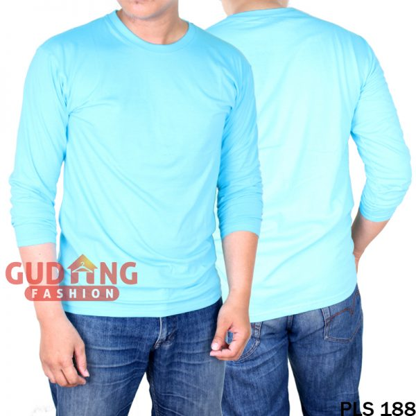 Atasan Kasual Tshirt Pria Cotton Cardet Biru Bubble