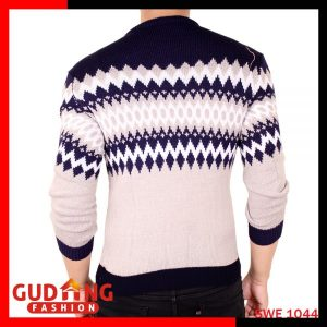 Sweater Rajut Tribal Rajut Navy Abu – SWE 1044