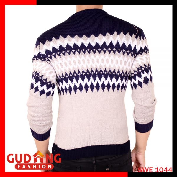 Sweater Rajut Tribal Rajut Navy Abu