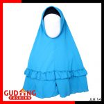 Kerudung Bubble Pop Jumbo Rempel Bubble Pop Biru – JLB 54
