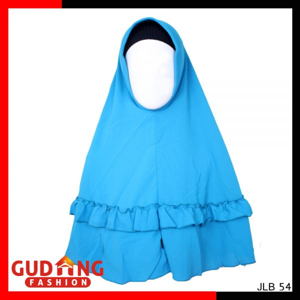 Kerudung Bubble Pop Jumbo Rempel Bubble Pop Biru