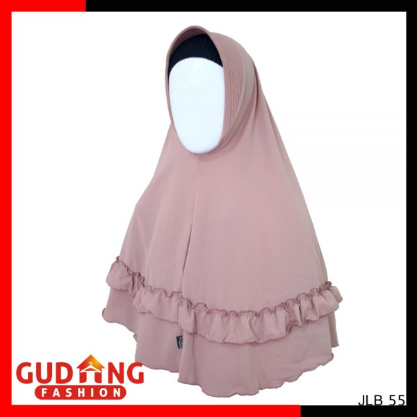 Kerudung Rempel Jumbo Polos Bubble Pop Bubble Pop Salem