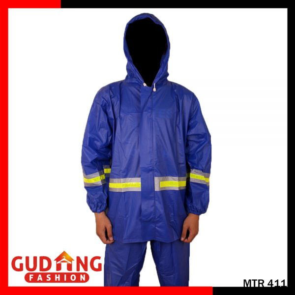 Jas Hujan Pengendara Motor Water proof dan Wind Proof Biru - MTR 411