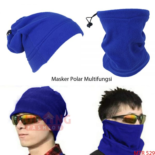 Masker Polar Keren Fleece Dark Blue - MTR 529