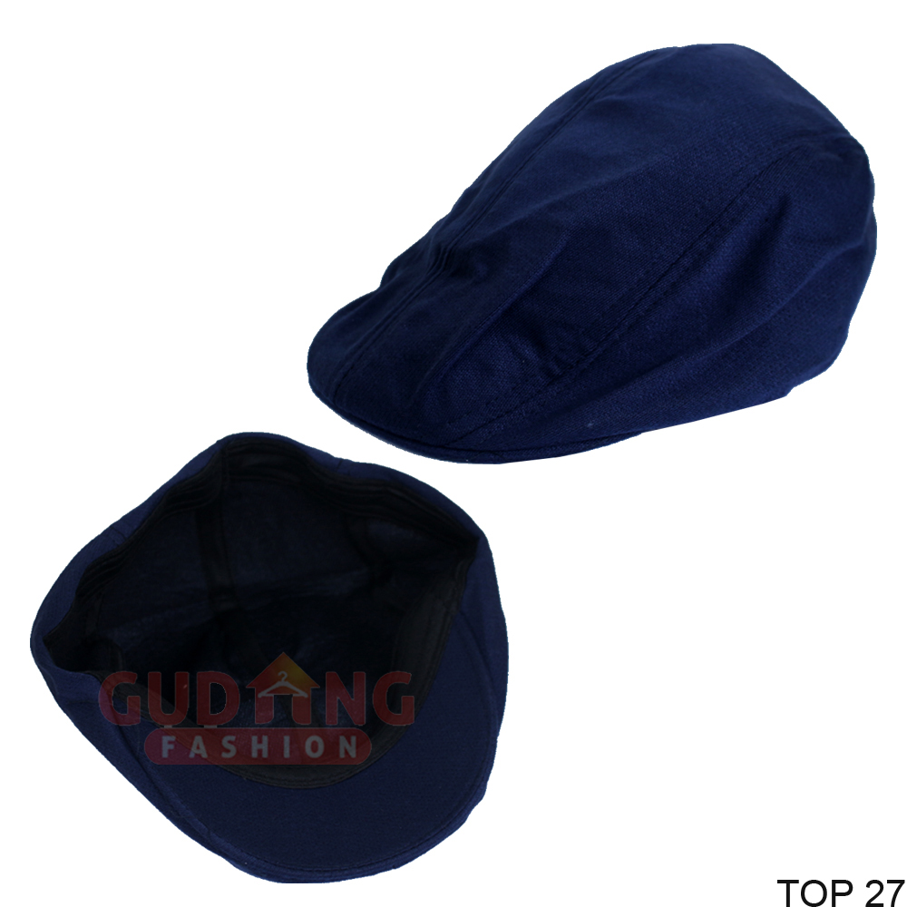 Topi Patino Flat Copet Sutrada Pet Fleece Biru Dongker - TOP 27
