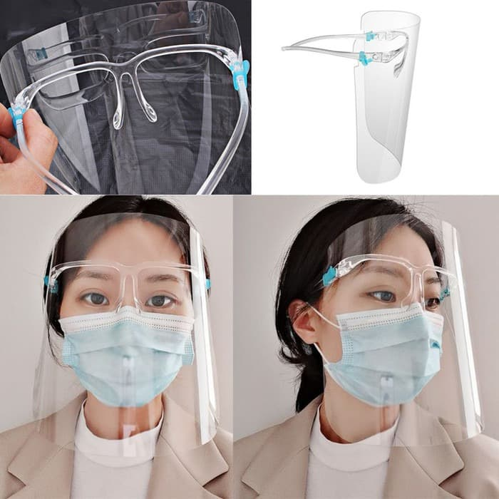 Face Shield Bening Kacamata Raffi Nagita Orbital Dental Mask FREE BOX Mika Keras Transparan - TOP 39